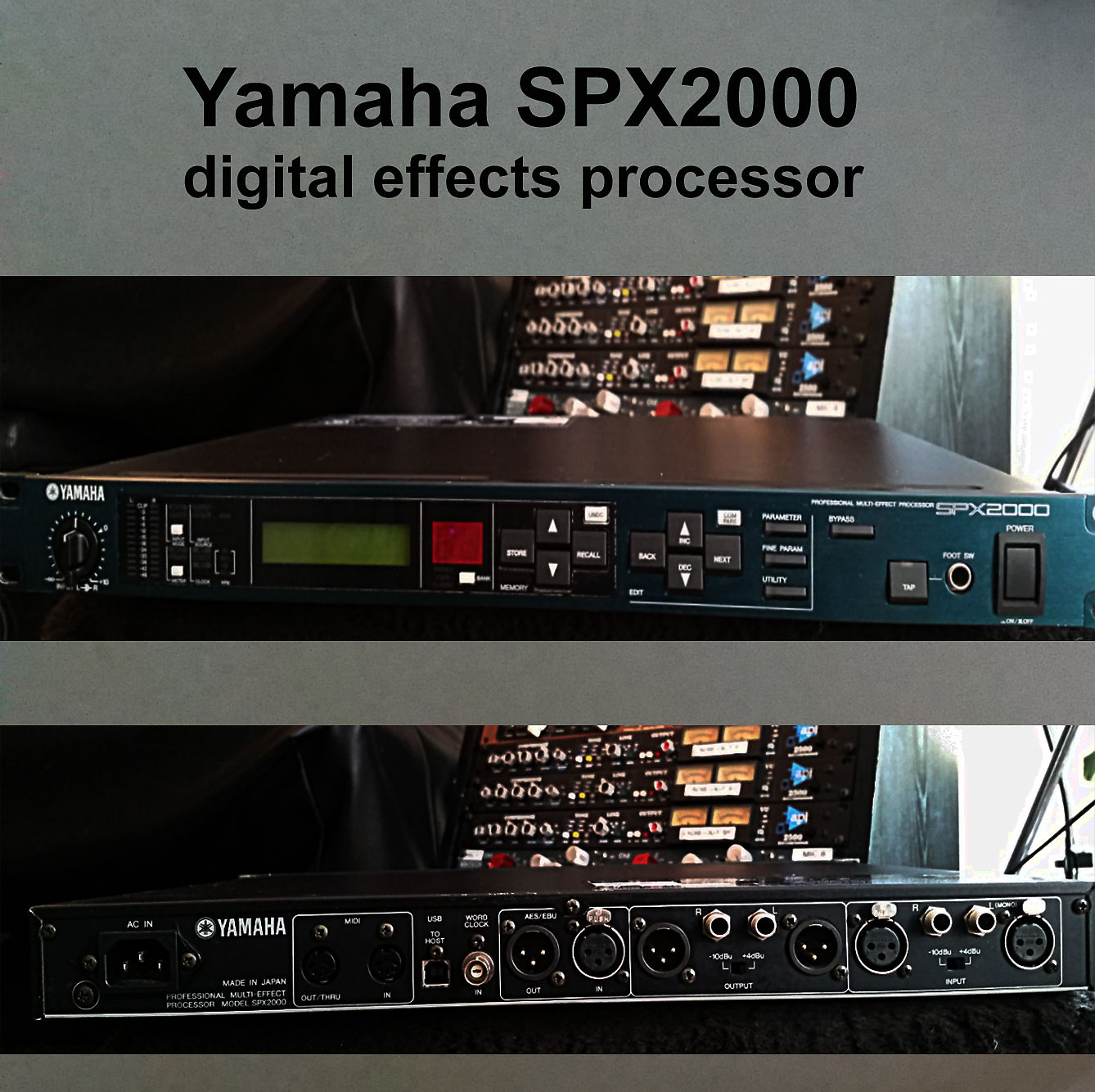 yamaha spx2000 digital effects processor reverb. Black Bedroom Furniture Sets. Home Design Ideas