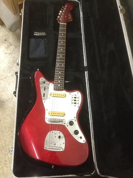 vintage 1984 fender jaguar made in japan candy apple red e | reverb