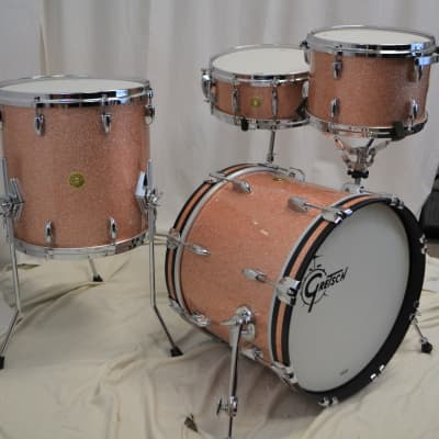 "Gretsch 18/12/14/5.5x14"" USA Custom Drum Set - Champagne Sparkle"