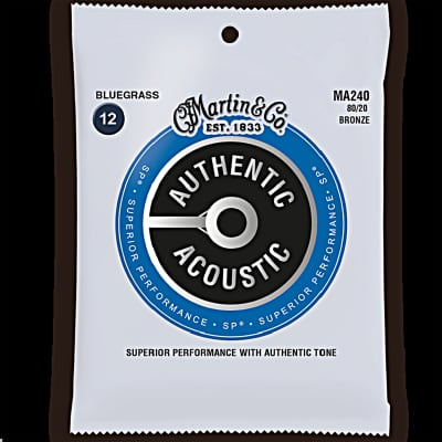 Martin MA240 Authentic Acoustic SP 80/20 Bronze Guitar Strings 12-56 Bluegrass