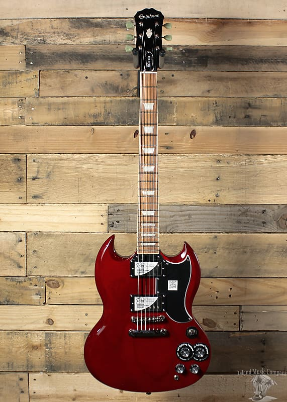 epiphone g 400 pro electric guitar cherry finish reverb. Black Bedroom Furniture Sets. Home Design Ideas