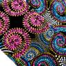 Pinwheel Fireworks Guitar Strap Artisan Handmade Fuchsia, Pink, Turquoise, Blue, Green, Purple image