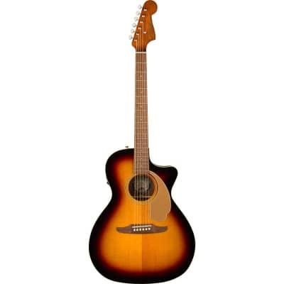 Fender Newporter Player Acoustic Guitar, Walnut Fingerboard, Sunburst