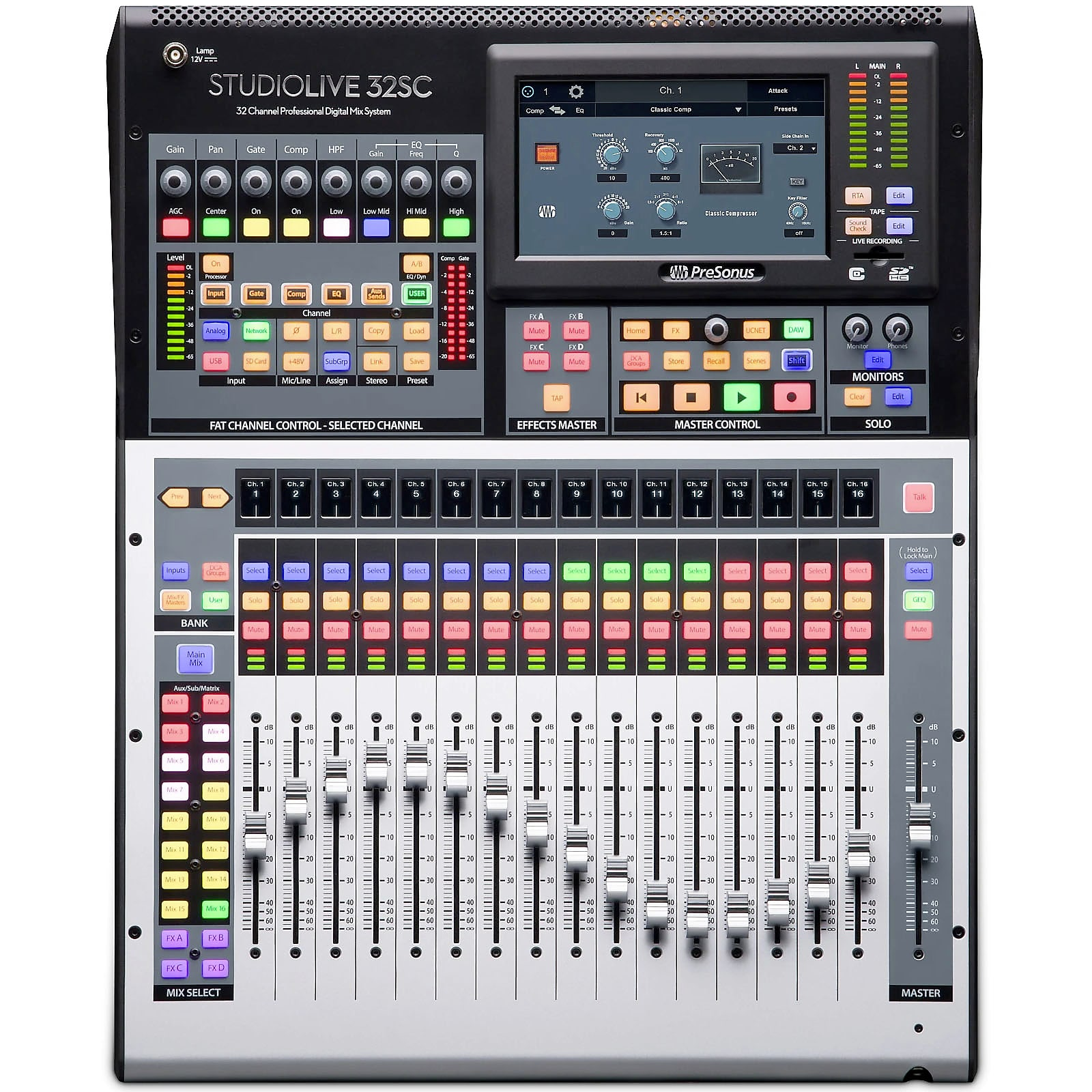 PreSonus SL-32SC 16-Pre Digital Mixer with Moving Faders