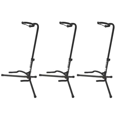 On Stage Stands XCG-4 Classic Guitar Stand (3 Pack Bundle)