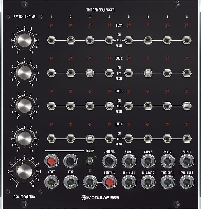 moon modular 563 v2 trigger sequencer moog unit mu 5u reverb. Black Bedroom Furniture Sets. Home Design Ideas