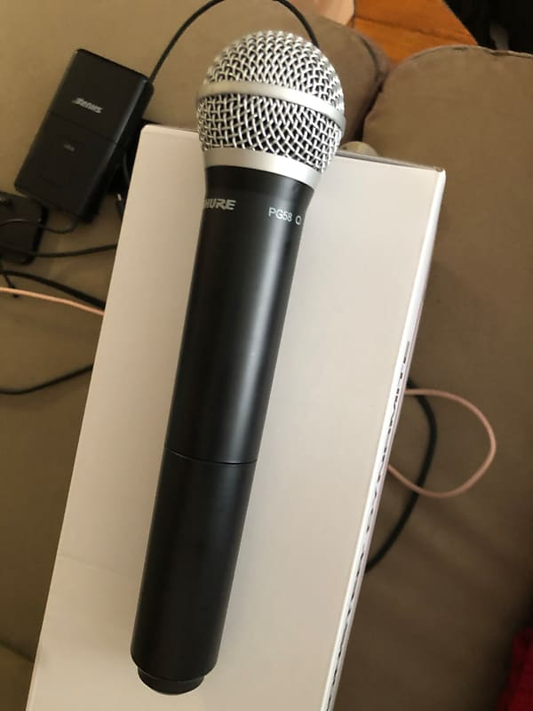 shure pg58 wireless microphone black gear bazaar reverb. Black Bedroom Furniture Sets. Home Design Ideas