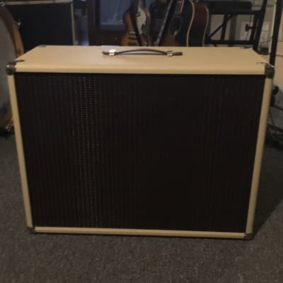 Mojotone 1x12 cabinet blonde tolex / oxblood grill for sale