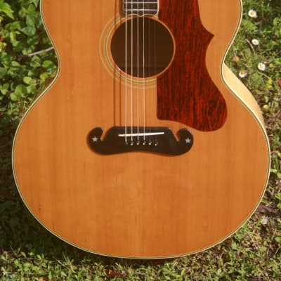 Greco Canda No.404 J200 Jumbo Style Guitar 1973 Natural+Hard Case FREE for sale