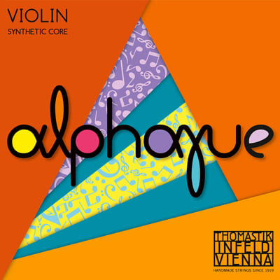Thomastik-Infeld AL02 1/8 Alphayue Aluminum Wound Synthetic Core 1/8 Violin String - A (Medium)