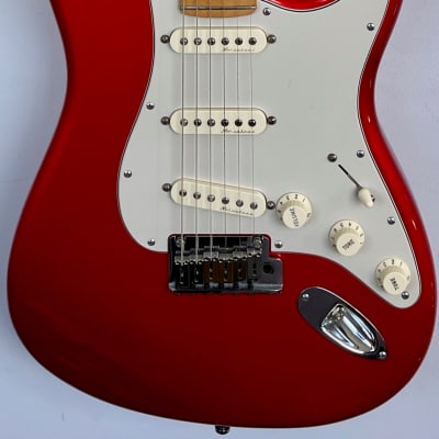 Fender American Deluxe Stratocaster with Maple Fretboard 2002 - 2003 Chrome Red for sale