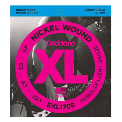 D\'Addario EXL170S Nickel Wound Bass Strings Light/Short Scale 45-100