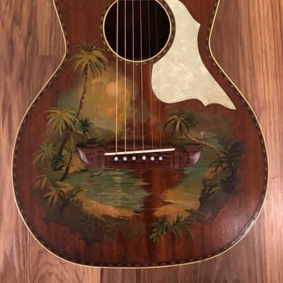 Stromberg-Voisinet Hawaiian Motif Parlor Guitar for sale