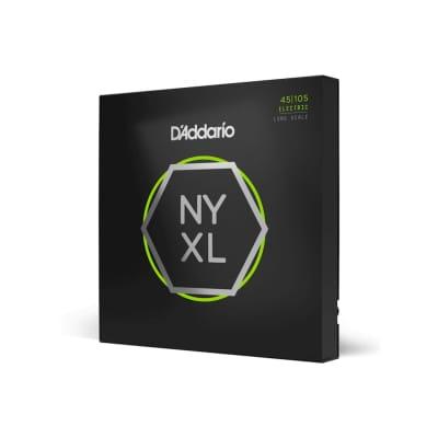 D'Addario NYXL45105 Nickel Wound, Light Top / Med Bottom, 45-105, Long Scale