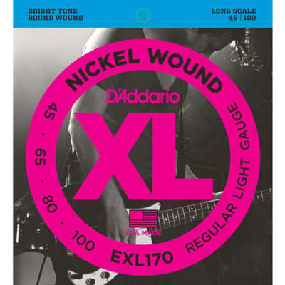 D'Addario EXL170 Nickel Wound Bass Strings - 45-100