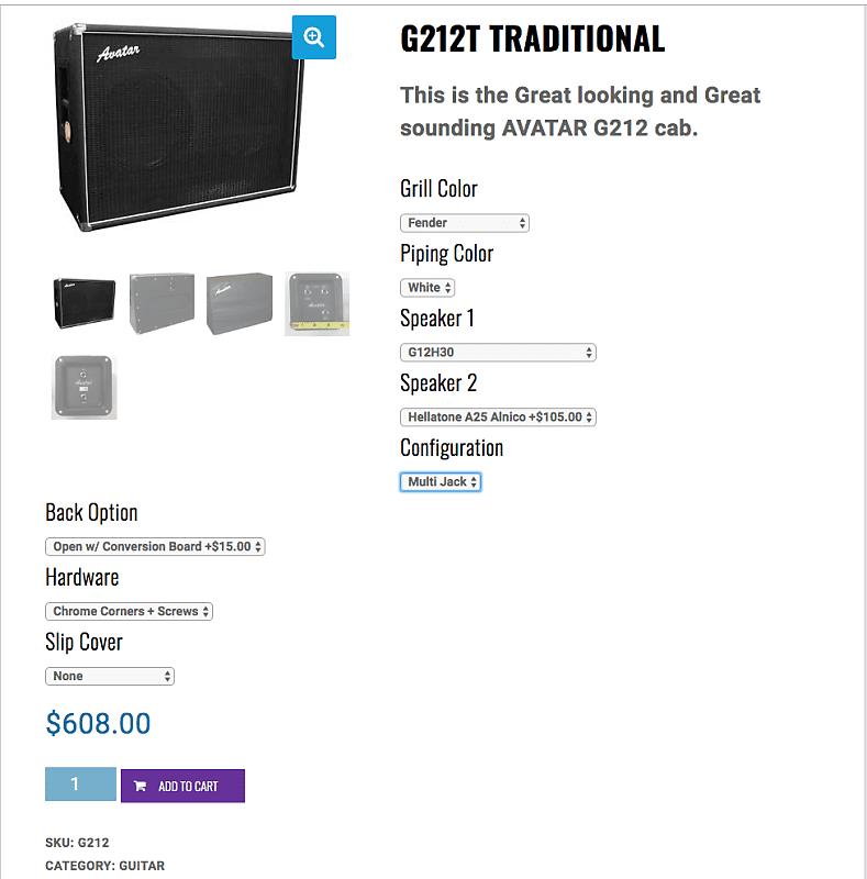 avatar g212t 2x12 guitar cabinet 2015ish black silver reverb. Black Bedroom Furniture Sets. Home Design Ideas