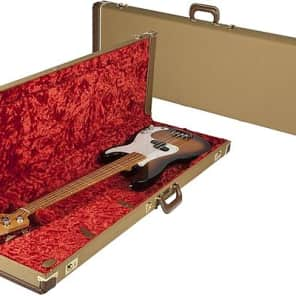 Fender G&G Deluxe Precision Bass Hardshell Case, Tweed with Red Poodle Plush Interior 2016
