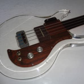 Ampeg Dan Armstrong Fretless Bass Clear 1971