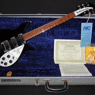 1990 Rickenbacker 355JL John Lennon Model in Jetglo w/ OHSC for sale