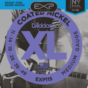D'Addario EXP115 Coated Electric Guitar Strings, Medium Blues/Jazz Gauge