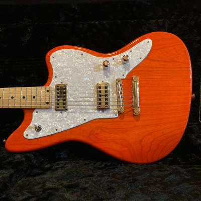 Tuttle Custom Classic Baritone Trans Orange Electric Guitar for sale