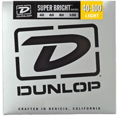 Dunlop DBSBN40100 Super Bright Nickel Wound Bass Strings 4-String Light Gauge Set - 40-100