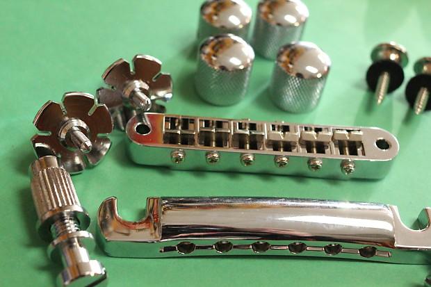 zemaitis guitar parts lot chrome bridge tailpiece reverb