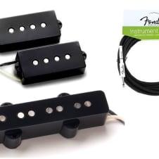 Seymour Duncan SPB-1 & SJB-1 Vintage PJ Precision P Jazz Bass Pickup Set ( FENDER 18FT CABLE )