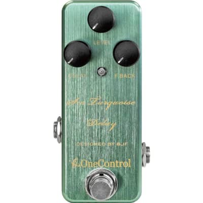 One-Control Sea Turquoise Delay Effects Pedal for sale