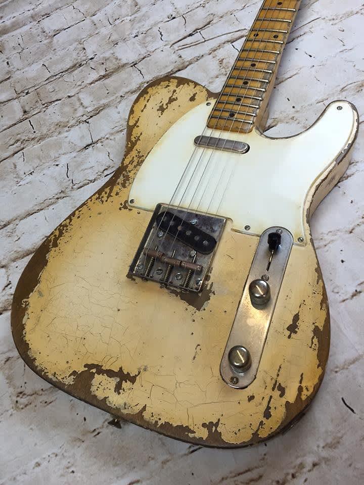 Fraser Guitars - Aged White 50s Telecaster Guitar Vintage | Reverb