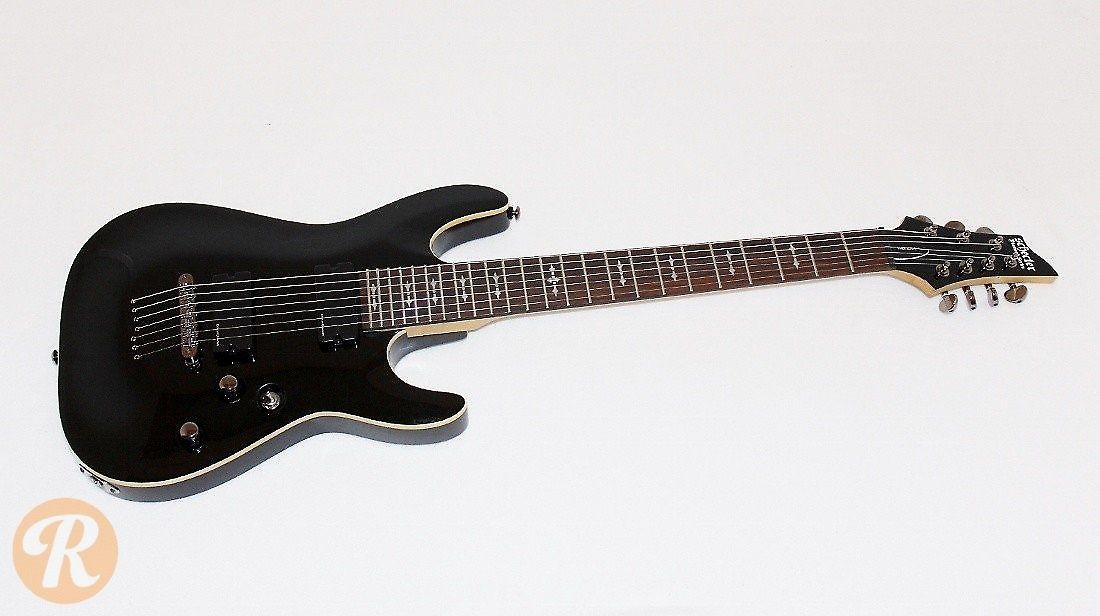 Schecter omen 7 black reverb for Portent vs omen