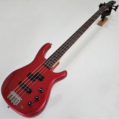 1994 Fender MB-4 Chrome Red MIJ Jazz Precision PJ Bass Guitar for sale