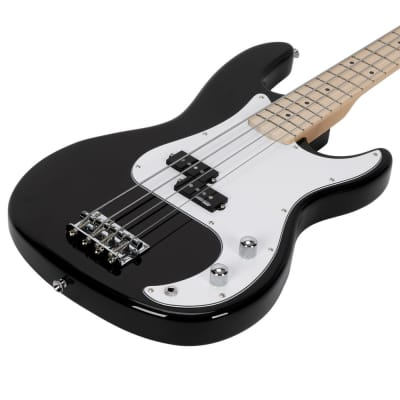 Glarry GP II Electric Bass Guitar with Wilkinson Pickup, Warwick Bass Strings, Bone Nut 2020s Black for sale
