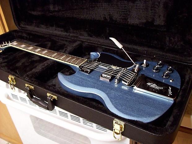 new 2013 epiphone pelham blue limited ed les paul custom reverb. Black Bedroom Furniture Sets. Home Design Ideas