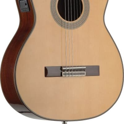 Angel Lopez C1448CFI-S 4/4 Cutaway Acoustic-Electric Classical Guitar w/ Solid class A Spruce Top for sale