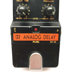 Pearl AD-08, Analog Delay, Made In Japan, 1980's, Vintage Guitar Effect Pedal for sale