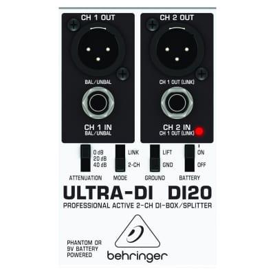 Behringer DI20 Ultra-DI 2 Channel DI-Box Splitter