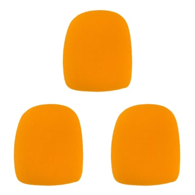 Microphone Windscreen - 3 Pack - Orange - Fits Shure SM58, Beta 58A & Similar - Vocal Mic Cover New