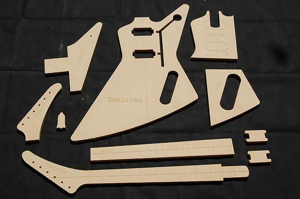 Explorer Guitar Router Template Set 12 Mdf Cnc Reverb