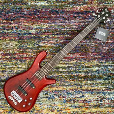 Warwick German Pro Series Streamer LX-5 String Bass - Burgundy Red Transparent Satin / Cherry Body