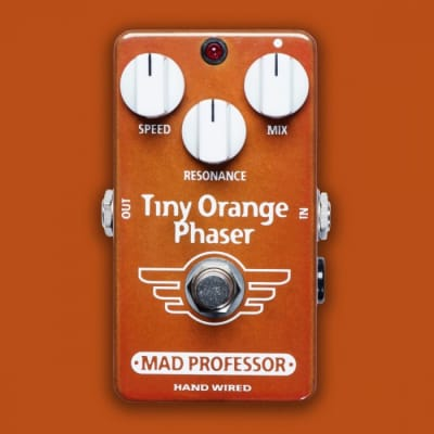 Mad Professor Tiny Orange Phaser Hand Wired guitar effect pedal for sale