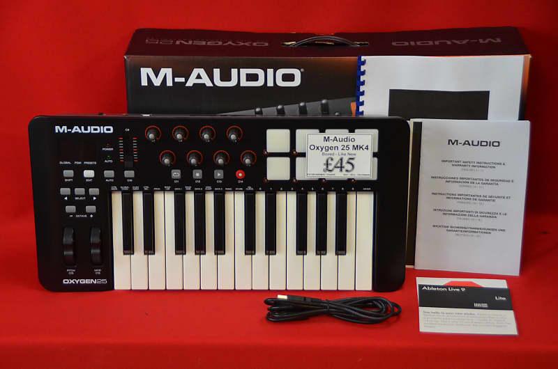 3085312f5 M-Audio Oxygen 25 MkIV MIDI Controller Keyboard