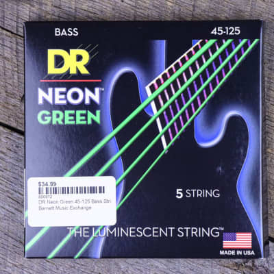 DR Neon Green 45-125  5-String Bass Strings