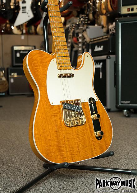 Fender Custom Shop Artisan Figured Mahogany Telecaster Amber Tinted Lacquer