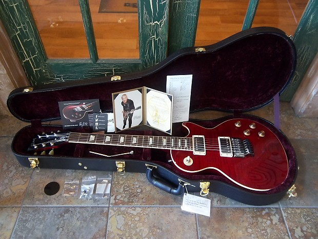 Gibson Les Paul Custom Alex Lifeson Model 2017 Royal Crimson Reverb