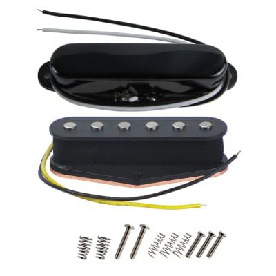 FLEOR Electric Guitar Single Coil Pickup Alnico 5 Pickup Black/Black