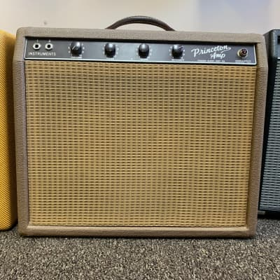 1961 Fender Princeton Brown Tolex Great Condition with Original Foot Switch for sale