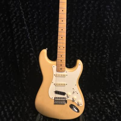 Fender 40th Anniversary Strat Japan Foto Flame 1994 Blonde Transluscent for sale