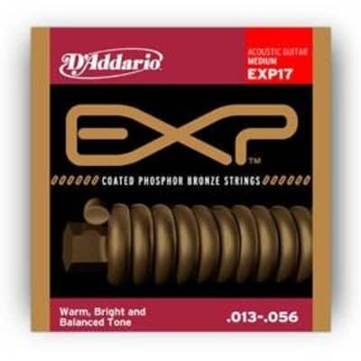 D'Addario EXP17 Coated Phosphor Bronze, Medium, 13-56
