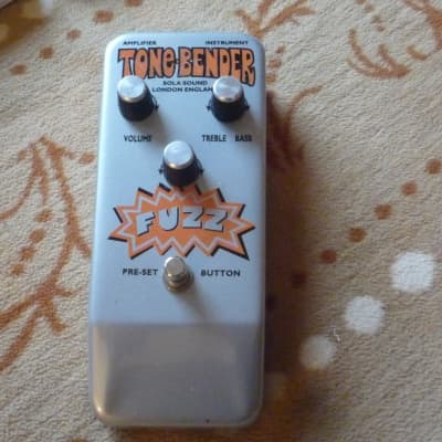 Sola Sound Sola Sound Tone Bender Jumbo Fuzz 90s Reissue 90 Silver Grey for sale
